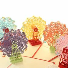 Pop Up 3D Cute Ferris Wheel Greeting Card Souvenir With Envelope Gift Cards