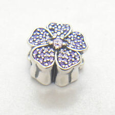 Authentic Genuine S925 Sterling Silver Sparkling Primrose CZ Charm