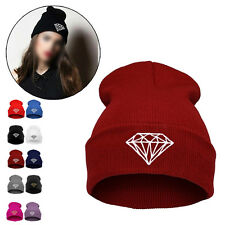 Men Women Pattern Hip-Hop Cap Beanies Winter Cotton Knit Wool Hats