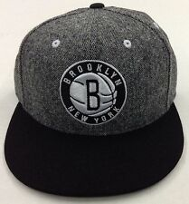 NBA Brooklyn Nets Adidas Tweed Snapback Cap Hat Beanie Style #NH92Z NEW!