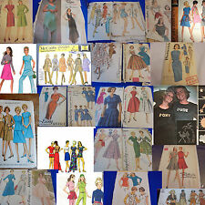 #2 ALL SZ 14 U PICK SEWING PATTERNS MORE THAN PICS VINTAGE 1950S 1960S 1970S