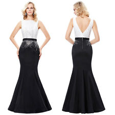 Ladies Sleeveless Long Formal Party Cocktail Evening Prom Wedding Maxi Dress NEW