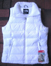 THE NORTH FACE WOMENS NUPTSE 2 DOWN VEST- JACKET-CUQ6- WHITE- S, M  L, XL- NEW
