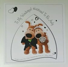 Large Personalised Husband Wife To be On Our Wedding Day Card Boofle Design Mint