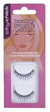 CITY CHICK -  BLACK DAZZLING DIAMANTE  EYE LASHES  WITH ADHESIVE