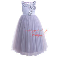 Kids Girl Princess Flower Party Prom Wedding Bridesmaid Communion Formal Dress