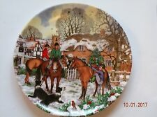 "Wedgwood Collectors Plate Christmas Companions ""A Ride in the Snow"" (1054)"