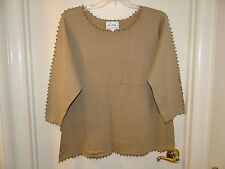 New Linea by Louis Dell'Olio Ribbed Sweater with Goldtone Ball Accents - 2X