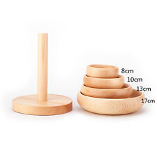 4 size Domed Wooden Hat Fascinator Base Millinery Block with Stand B051