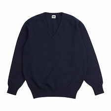 Community Clothing Men's Navy Wool V-Neck Jumper