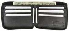 Zip Around Genuine Leather Bifold Card Holder Wallet  W/Outside Zipper Pocket