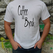 Coffee Break Men T-Shirt Cool Funny Japan Cotton Short Sleeve Offensive Casual