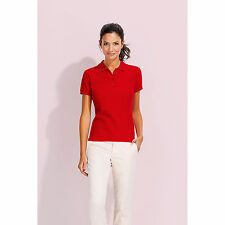 Women Ladies Passion Pique Short Sleeve Polo Shirt Leisure Work Sport Casual Top