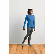 New Gildan Womens Ladies Sport Performance Long Sleeves T-Shirt Crew Neck Sleeve