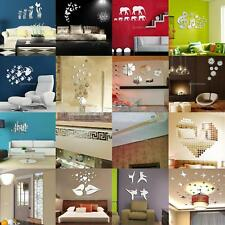 Assorted Removable 3D Mirror Wall Sticker Decal Mural Vinyl Art DIY Home Decor