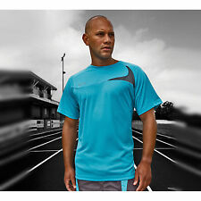 Spiro Mens Dash Training Shirt Mens Activewear Sports Half Sleeves Top Tee Shirt