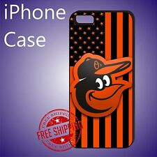 Baltimore Orioles Rare Thin Orange Case Cover iPhone 8+ 7+ 7 6s+ 6+ SE 5c 5s #ED