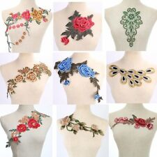 Craft collar Sequin Floral Embroidered Trim Decorated Lace Neckline Collar