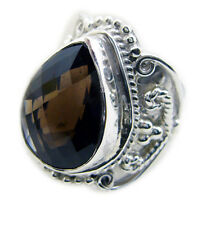 Smoky Quartz 925 Sterling Silver Ring ideal Brown gemstone AU K,M,O,Q