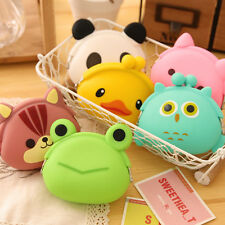 Girls Cute  Cartoon Animal Silicone Coin Purse Cosmetic Bag Rubber Bag Wallet