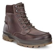 Ecco RUGGED TRACK GTX HIGH Lace Up Mocha Leather Water Resistant Gore Tex Boots