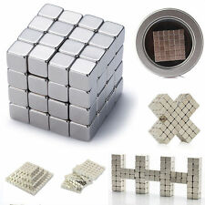 Hot  Magnetic Cube Square Magnet Block Puzzle Educational Toys 3mm /4mm /5mm