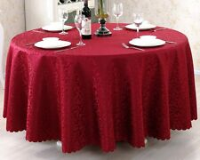 New 60''-120'' Round Polyester Tablecloth Cover for Wedding Party Banquet Table