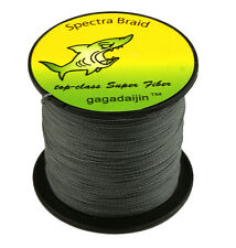 2017 Gray 100/300/500/1000M Dyneema 100%PE Spectra Braid Fishing Line 6LB-300L