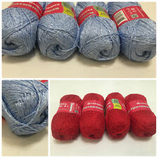 Decorative Yarn 80%Cotton, 20%Viscose, Lot 2 skeins 200g(7oz) Russia