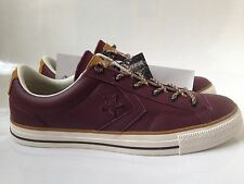 New Men's Converse Star Player OX Cons Leather Sneakers Deep Bordeaux 9; 10; 11