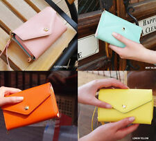 New Fashion Women PU Leather Purse Lady Handbag Wallet Coin Phone Case For Girls