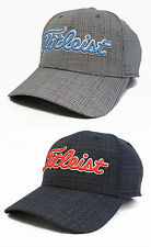 Brand New TITLEIST Golf WOOL SUITING Hat Cap Navy / Glen Plaid TH6AWS-9