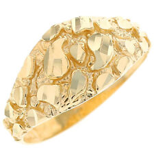 10k / 14k Solid Yellow Gold Nugget Dome Ring Jewelry