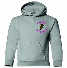 EMBROIDERED HORSE head personalised with riders name Adults equestrian hoodie