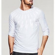 Hot Mens Floral Round Collar Long Sleeve Fitted T-shirt  Basic Tee Shirt M~XXL