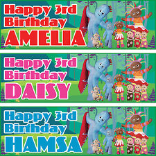 2 x personalized birthday banner party NightGarden boys girls any name ages