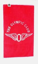 """THE OLYMPIC CLUB RED / WHITE VINTAGE GOLF TOWEL 16 X 26"""" FREE SHIPPING SALE"""