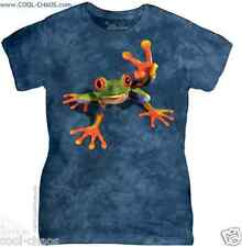 3D Frog / Peace Frog T-Shirt - Juniors Tie Dye Tee; Frogs for Peace!