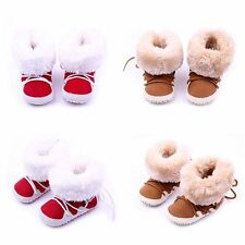 0-12M Baby Girl Boy Newborn Winter Warm Boots Toddler Infant Sole Shoes Booties