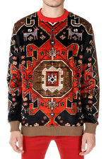 GIVENCHY New Men Red Printed Sweatshirt Long sleeve Cotton Made Portugal NWT