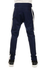 L(!)W BRAND New Men Virgin Wool Drawstring lace waist Blue Pants Trouser NWT