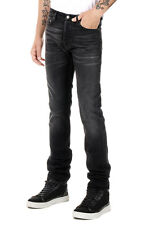 GGDB GOLDEN GOOSE DELUXE BRAND New Men Black Cotton Jeans Denim Made in Italy