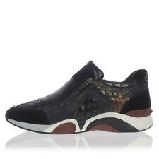 ASH new woman HOP black Leather sneakers with Lateral Zip Authentic model