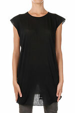 RICK OWENS DRKSHDW New Woman Black Tee T-shirt Made in Italy NWT