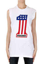 DSQUARED2 Dsquared² Women ICON Crew Neck T-shirt  Sleeveless  LOGO Made in Italy