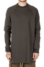 RICK OWENS New Men DARK DAST Sweater T-SHIRT BASEBALL TEE made Italy
