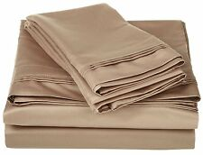 Comfort Bedding 1000 TC Egyptian Cotton 5PC's Duvet Cover Set Taupe Solid