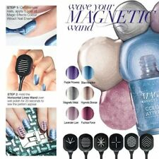 AVON COLOUR ATTRACT MAGNETIC NAIL ENAMEL POLISH & MAGNET WANDS