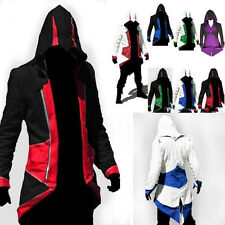 Assassins Creed 3 III Connor Kenway Hoodie Jacket Coat Cosplay Costume