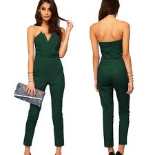 Women Off Shoulder Plus Size Jumpsuit Long Pant Hollow Romper Catsuit | UK |